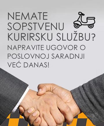 Baner za saradnju sa kurirskom službom